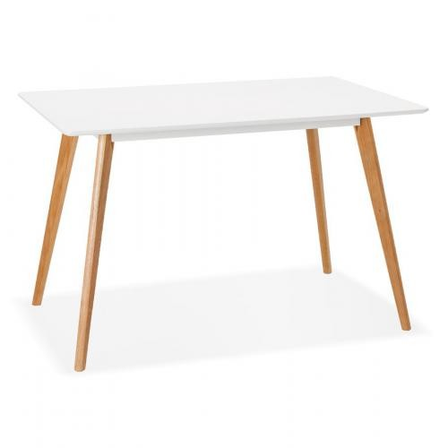 table a manger scandinave bois blanc figueras