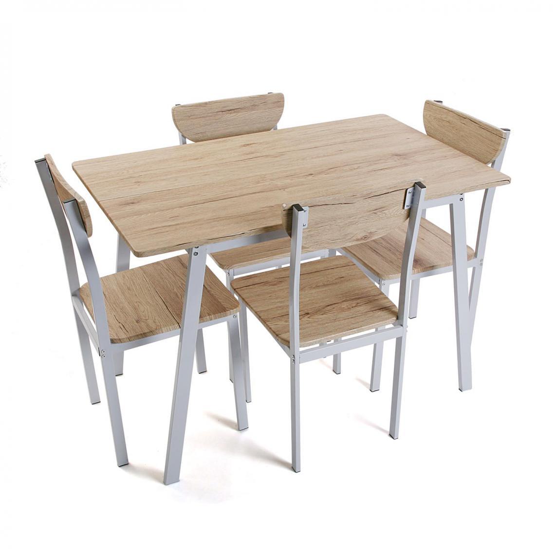 ensemble table 4 chaises bois boon