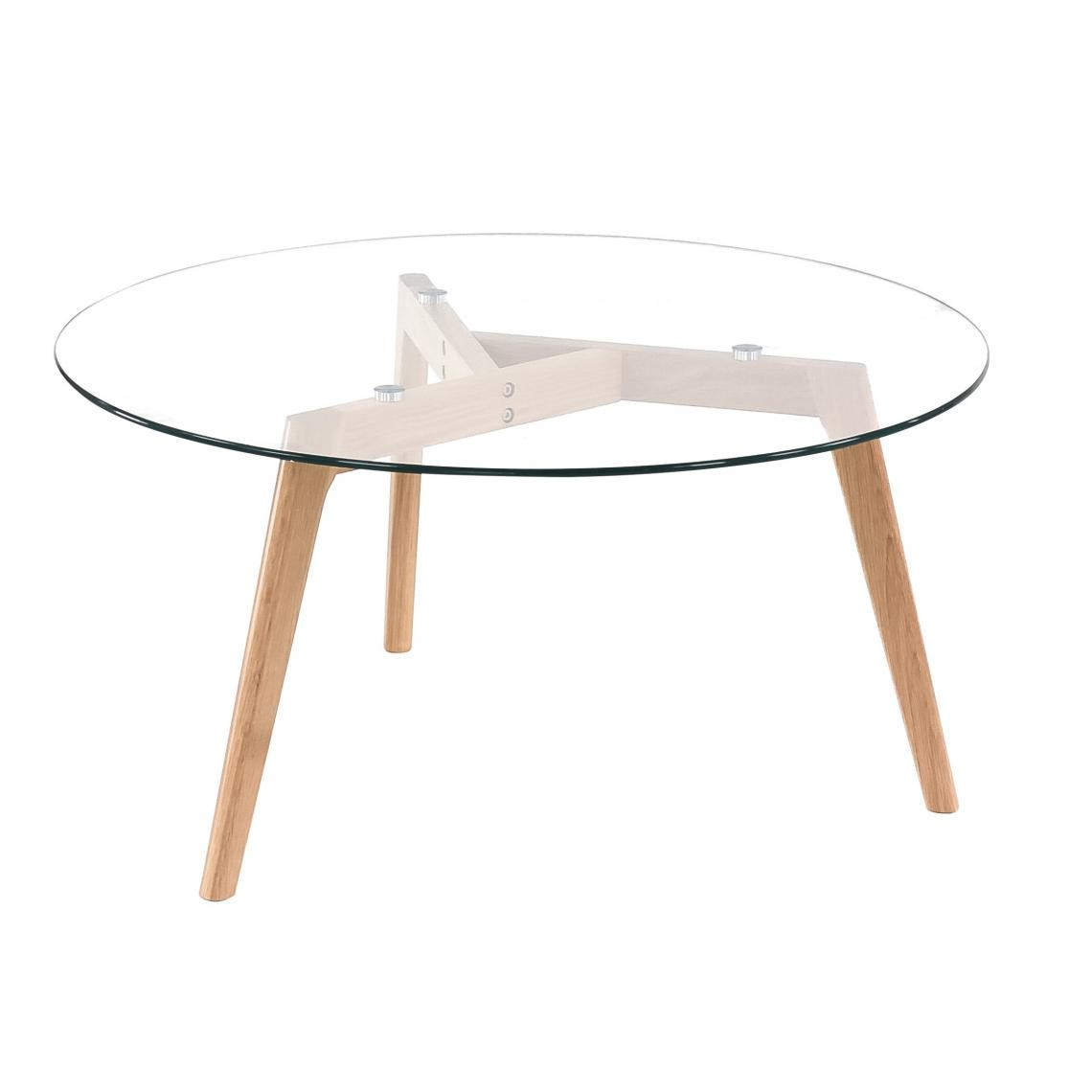 table basse scandinave d90cm verre fiord