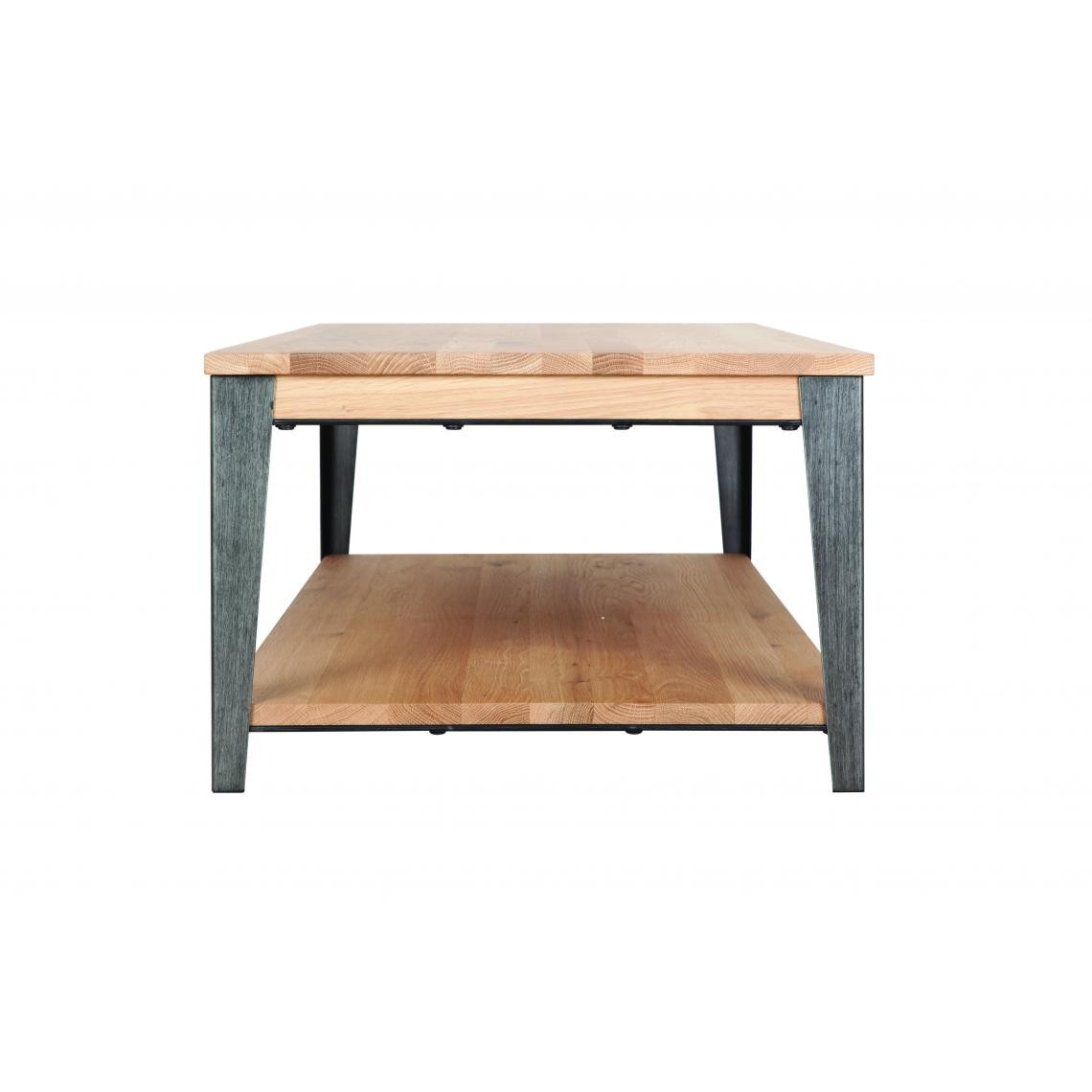 table basse chene massif metal boston