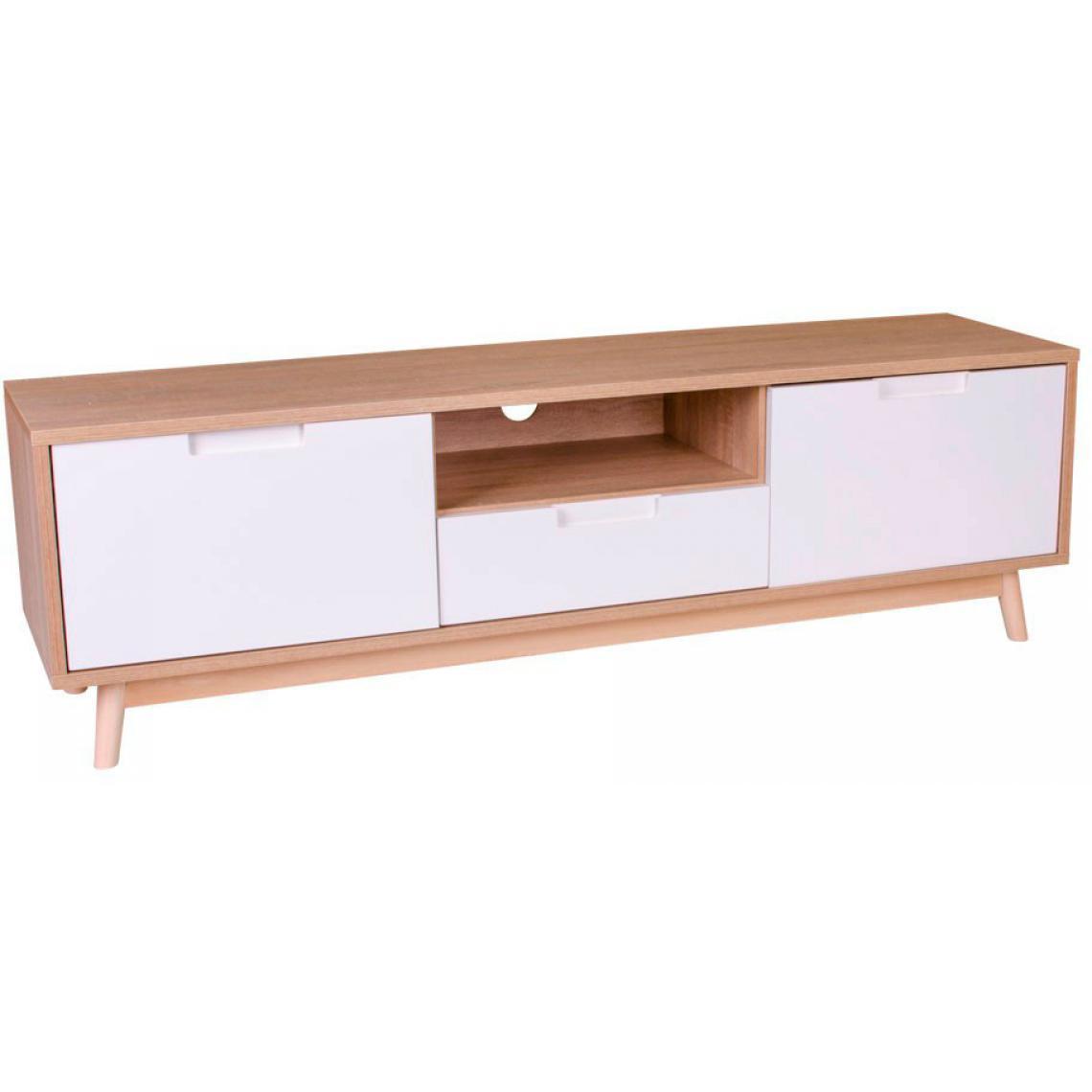 meuble tv scandinave blanc oli