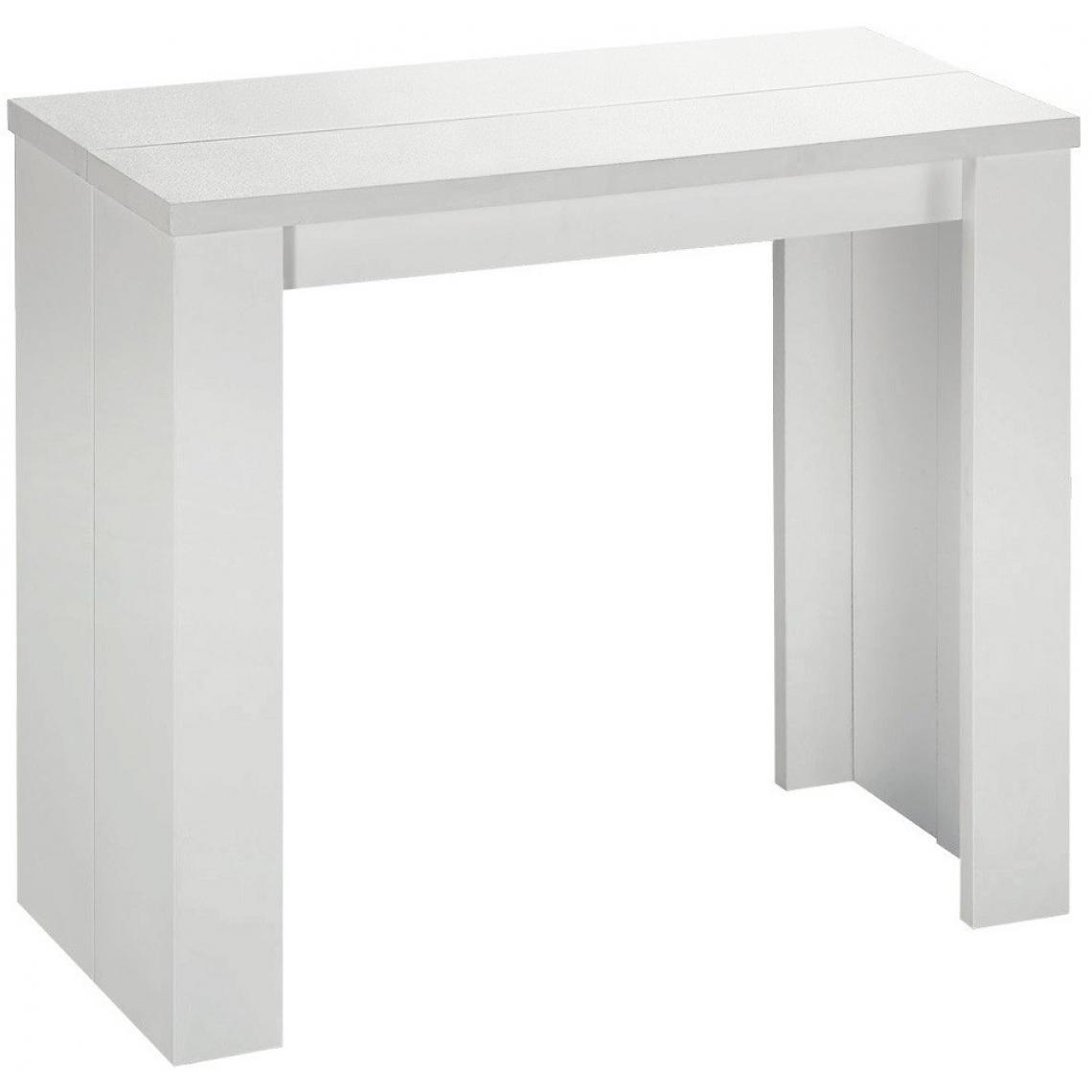console extensible blanche 190cm mat broadway