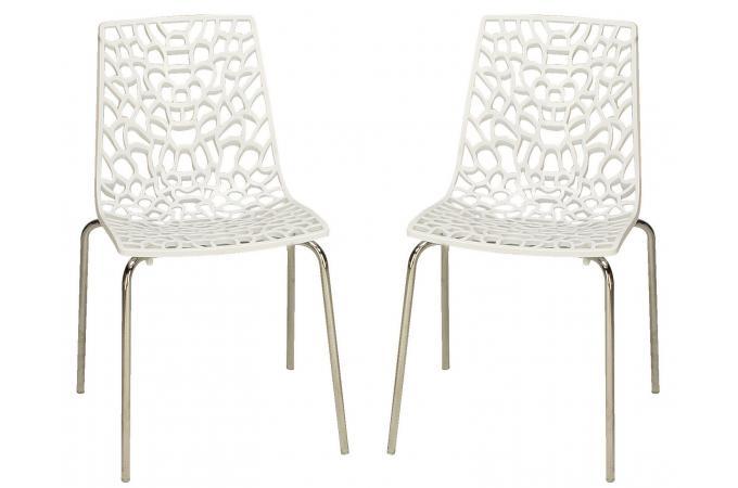 lot de 2 chaises blanches traviata
