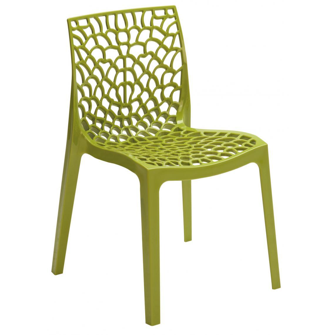 chaise design verte anis gruyer