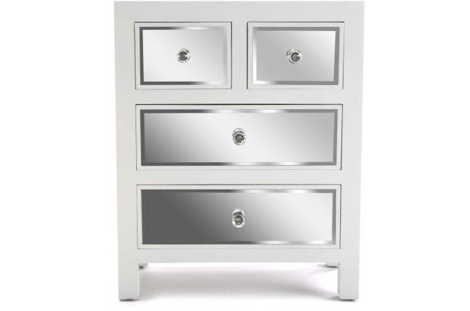 commode 4 tiroirs argent lucca