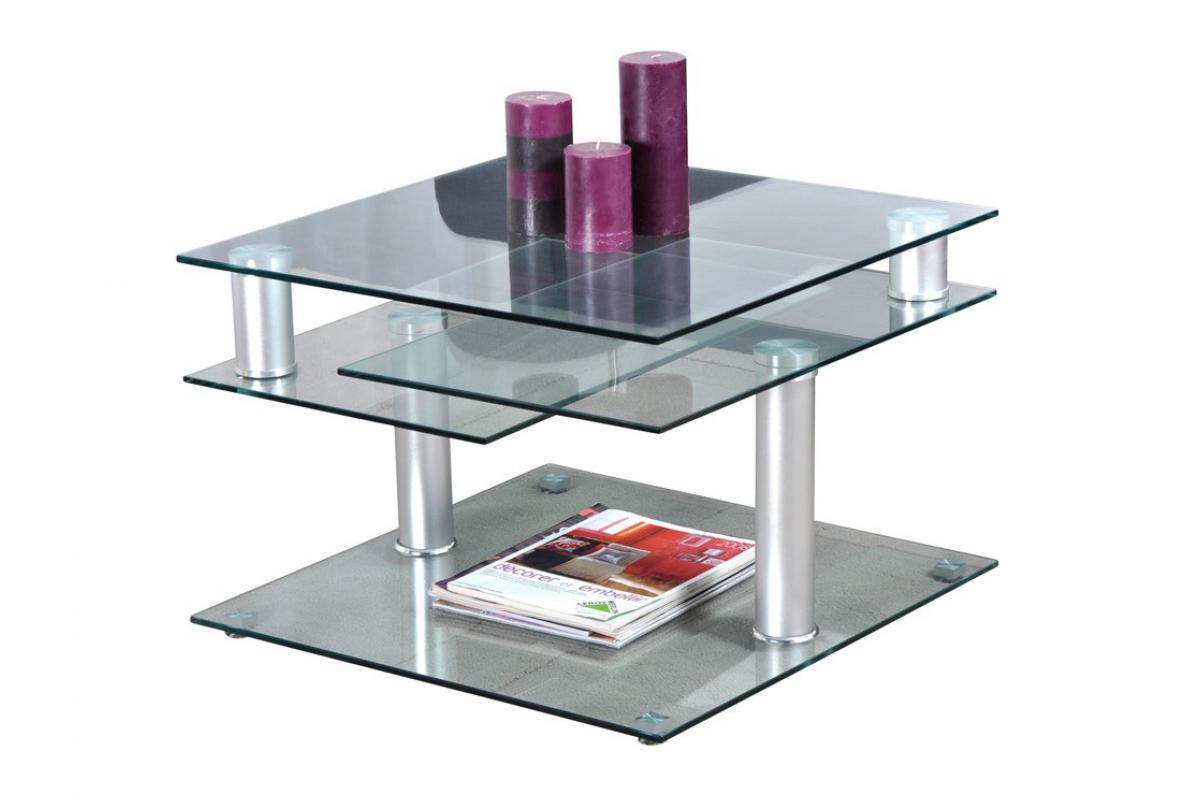 table basse en verre dino