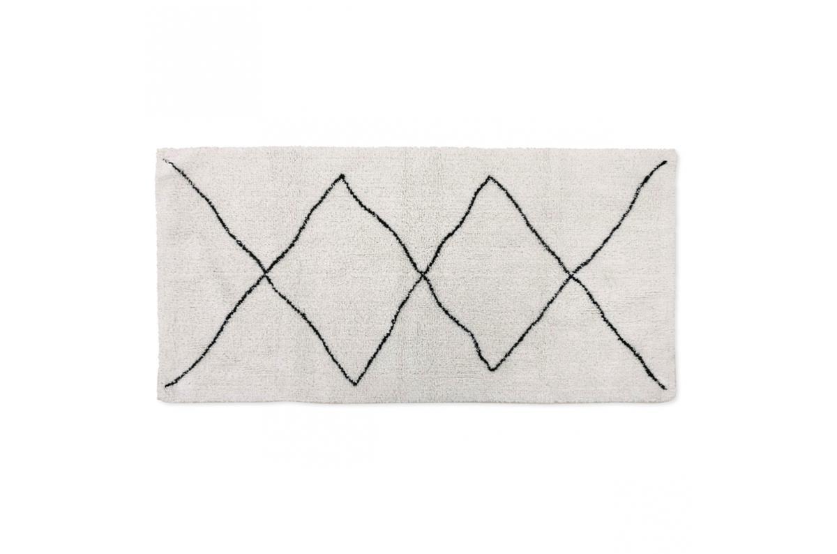 tapis berbere noir 70x140cm sphinx