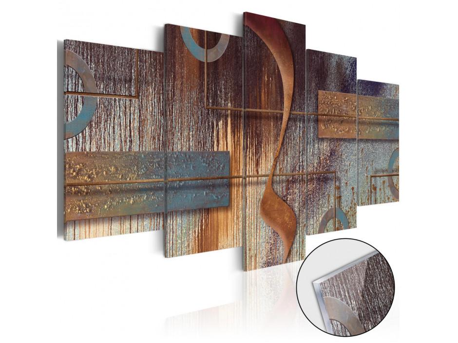 tableau sur verre acrylique oriental composition glass declina