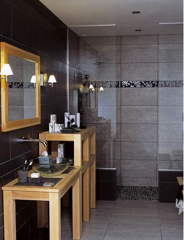 couleur salle de bain noir blanc gris 3