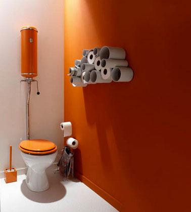 couleur peinture et rangement pour wc
