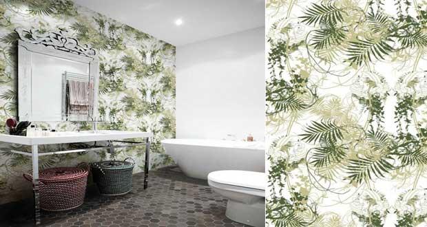 papier peint salle de bain special