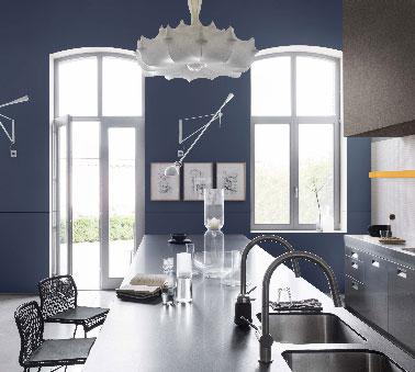 Peinture Cuisine Bleu Stone Couleur Couture Dulux Valentine