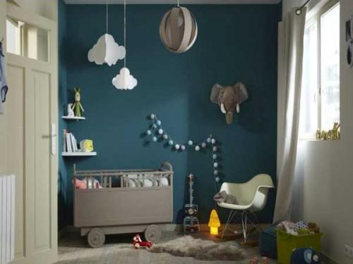 Du Bleu Canard Sur Un Mur Pour La Peinture Chambre Enfant