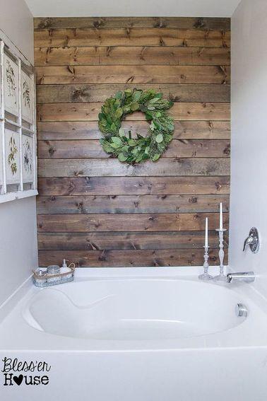 bois pour refaire sa salle de bain