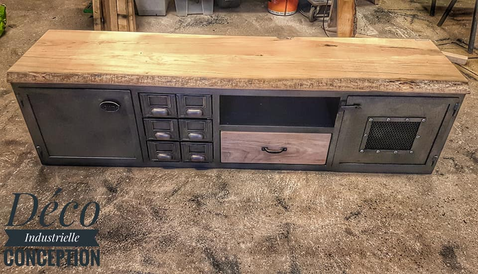 meuble tv plateau en frene deco