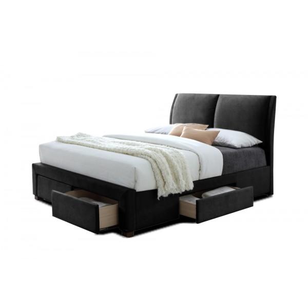 lit babano avec sommier pu noir 140x200 cm deco meubles