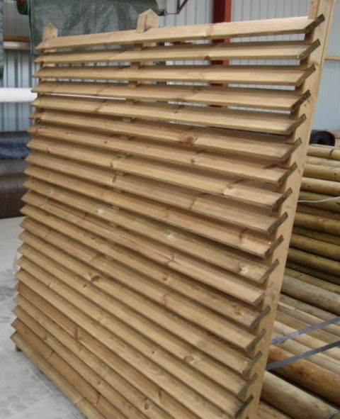 palissade bois panneau bois