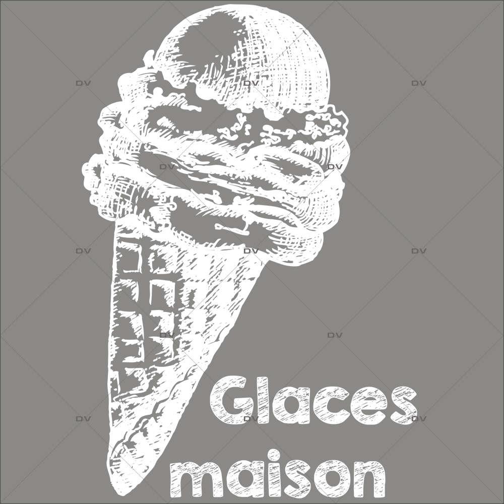 glac2 sticker cornet glaces maison deco vitres electrostatique
