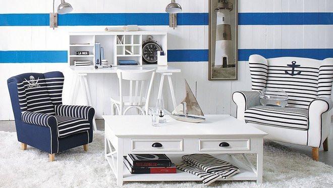 donner un style bord de mer a un salon
