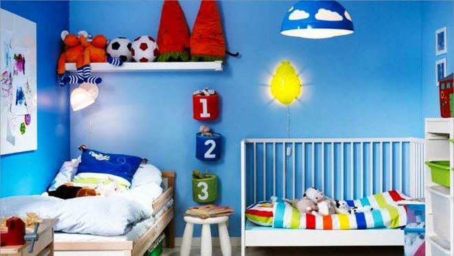 bleu pour la chambre d enfant
