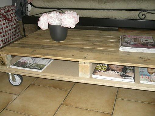 fabriquer une table basse en palettes