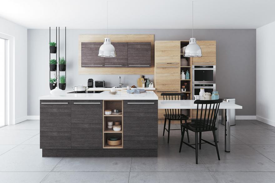 ilot de cuisine et espace de repas 2