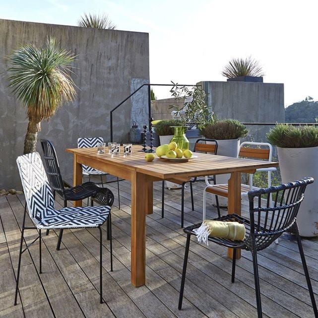 terrasse de style industriel