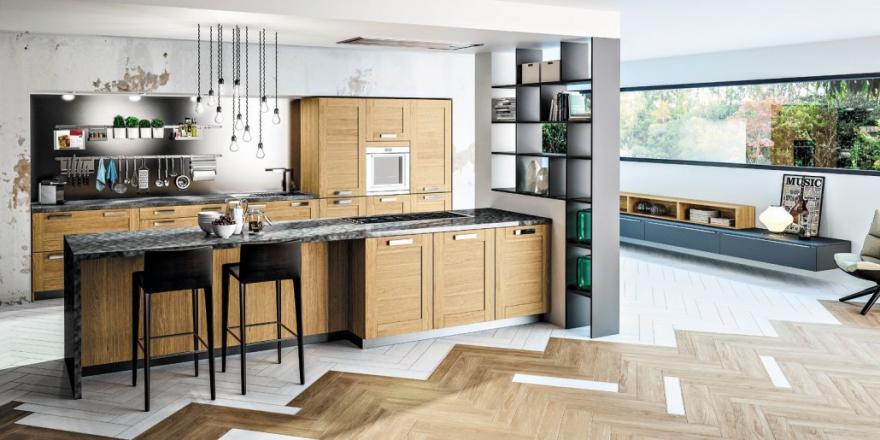 une cuisine noire et bois on ose