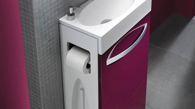 malin le lave mains dans les toilettes