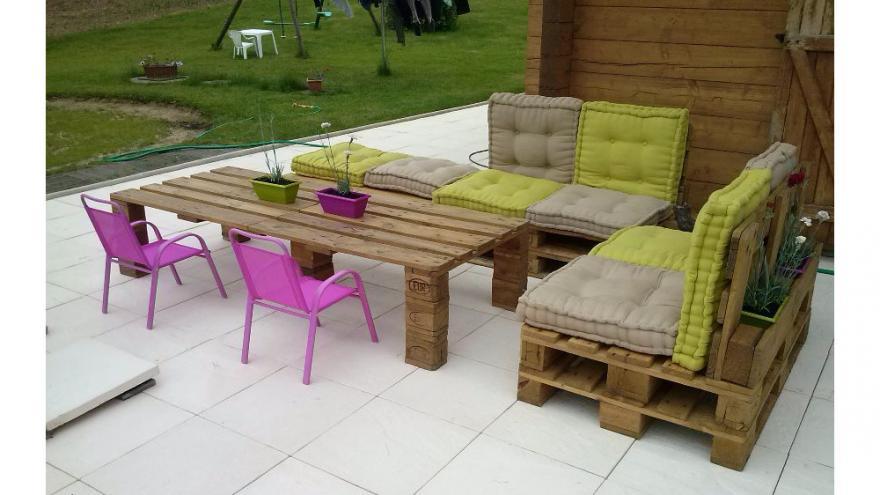 fabriquer un salon de jardin avec