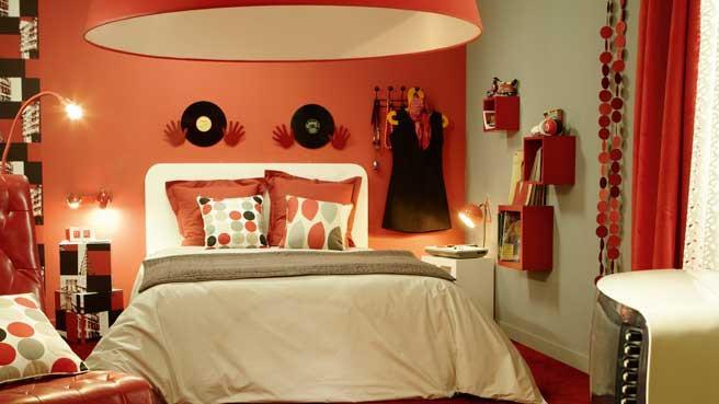de la couleur dans la chambre d ado