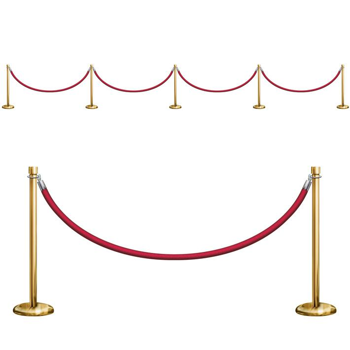 deco murale barriere vip tapis rouge