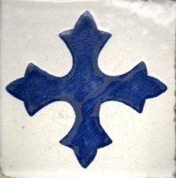 carreau mexicain bleu croix