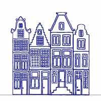 sticker maison-bleue Amsterdam ZuuZ Wall Design