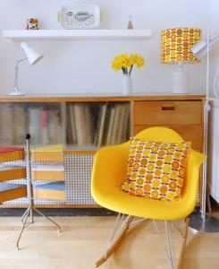 interieur vintage jaune Jane Foster
