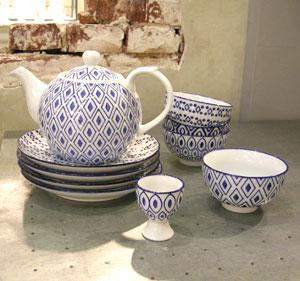 Vaisselle bleue ceramique Chehoma Decoclico