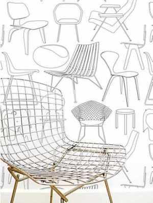 papier peint chaises design John Lewis
