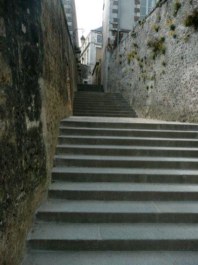 Chartres escalier ville 2011
