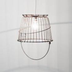 Vintage Wire Basket Swag Lamp REMODELISTA