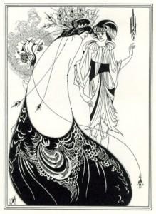 Beardsley La robe de paon (1892)