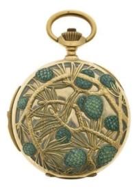 'Pine Cones' pocket watch by Rene Lalique circa 1900 Paris