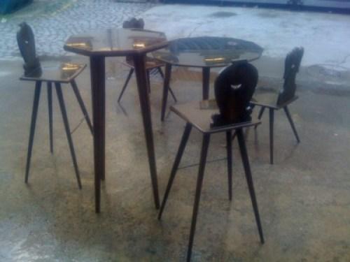 Table-chaise-design-art-metal-Acier-