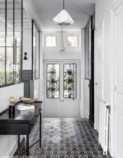 entree_carreaux-ciment_verriere_traditionnel_moderne_noir-blanc