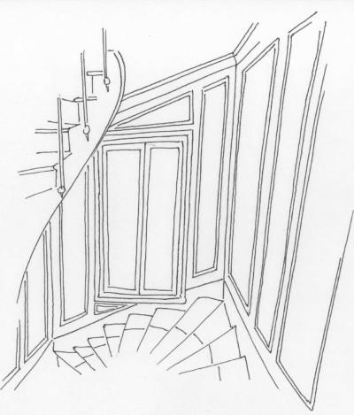 croquis_escalier_Atouslesetages_conseil_deco_Boulogne_92100
