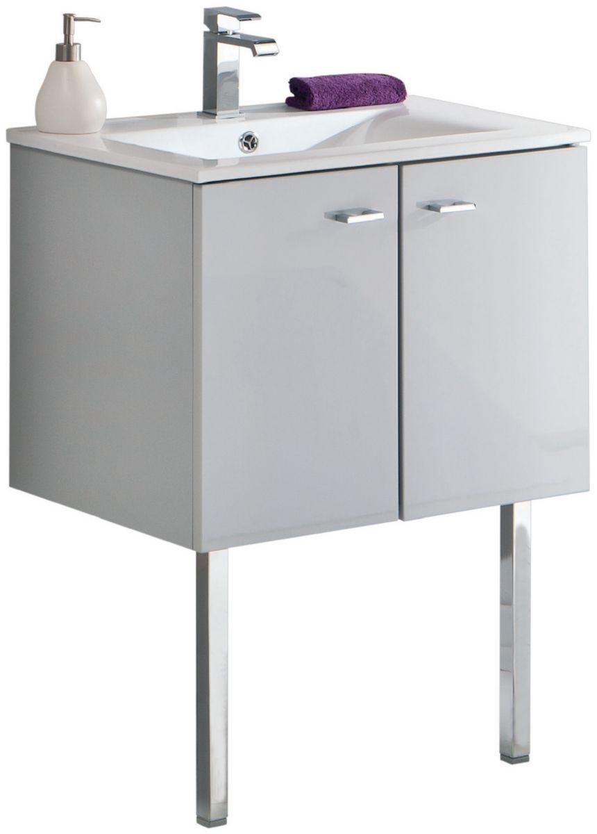 Alterna Jeu De 2 Pieds Metal Seducta Hauteur 378 Mm Pour Meuble Sous Vasque Chrome Decoceram