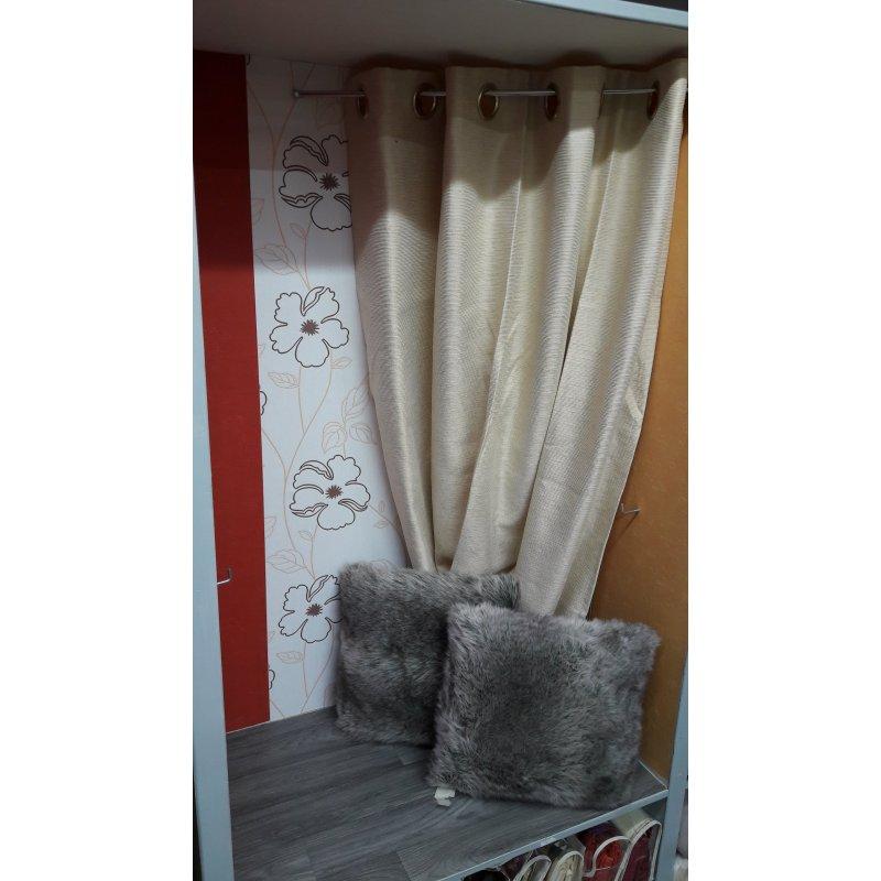 paire de rideaux lea d aubray beige 135 x 270 cm