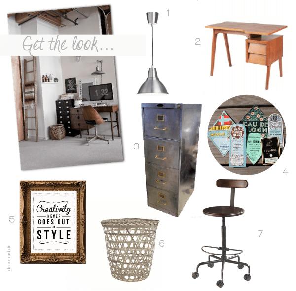 Get the look un bureau vintage et industriel decocrush - Lampe industrielle ikea ...