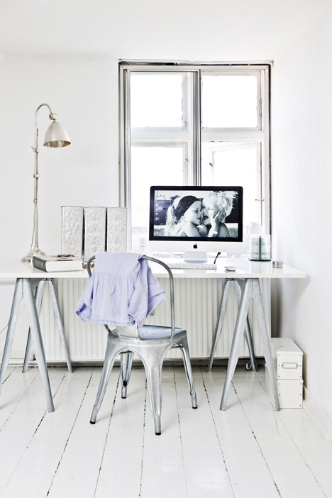 un coin bureau romantique l 39 tat brut decocrush. Black Bedroom Furniture Sets. Home Design Ideas