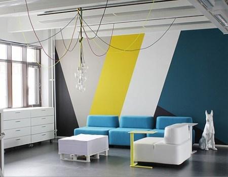 les jeudis graphiques peinture g om trique decocrush. Black Bedroom Furniture Sets. Home Design Ideas