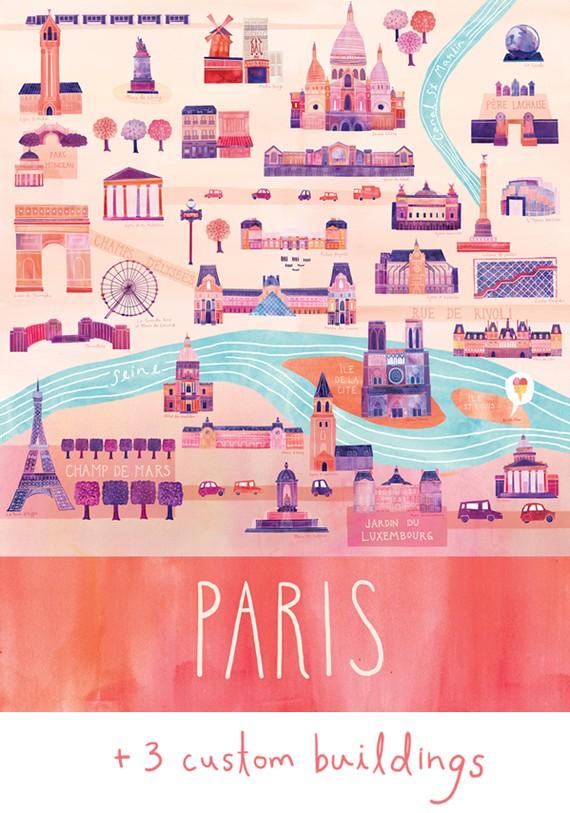 { Today I ♥ } Les jolies cartes coloréees de Marisa Seguin | www.decocrush.fr